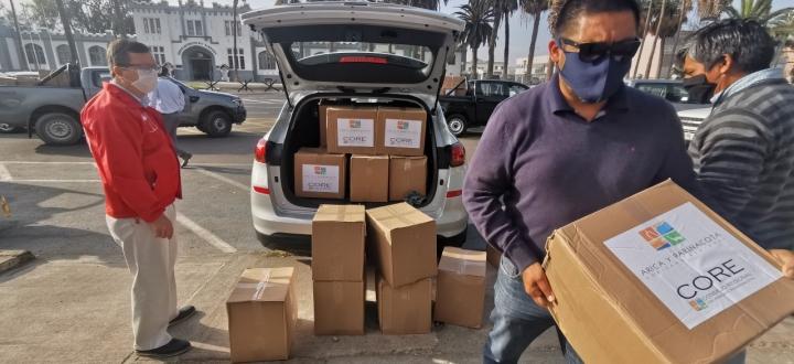 Continúa entrega de canastas familiares: 1.657 cajas se han distribuido en Arica