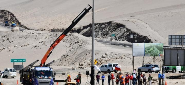 Comenzó construcción del tendido eléctrico del valle de Vítor
